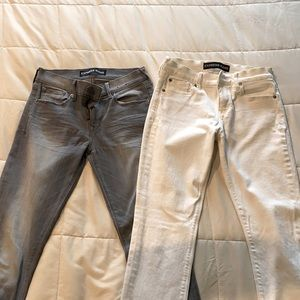 2 pairs size 2 Express midrise jeans